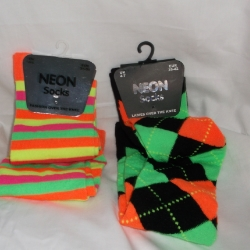 Over knee womens' socks in neon colours