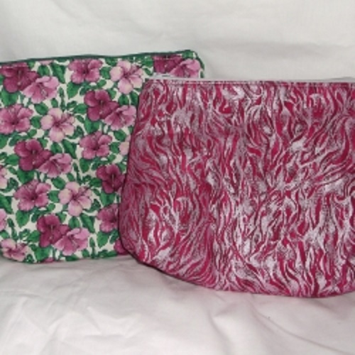 Large cosmetic bag. Approx 9inches long x 7 inches high x 4 inches wide