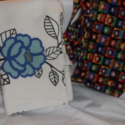 Large fully lined shopper bag, can be folded to easily fit into a handbag.