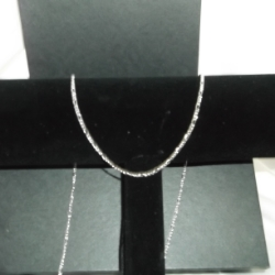 "24"" 925 silver fine figaro chain. Very dainty."