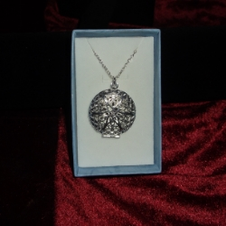 Round locket with a very dainty filigree star, on an 18inch chain. 925 silver.