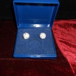 Shambala earrings for pierced ears. 925 silver.